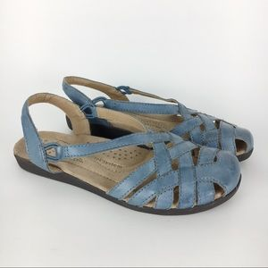 Earth Origins Blue Leather Nellie Sandals Size 6.5